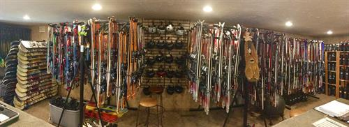 Our rental department will match you up with the perfect set of boots, skis, poles, snowboards, and snow pants.