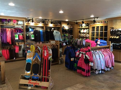 Our retail shop offer everything from gloves to snow boots to hats.