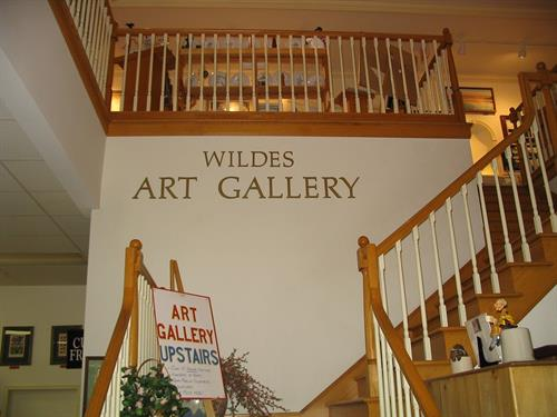 Climb the Grand Staircase to our art gallery