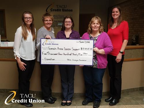 Donation to Tomah Area Cancer Support