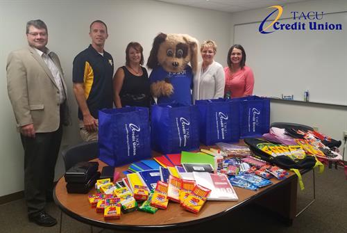 School supply donation to Tomah Area School District