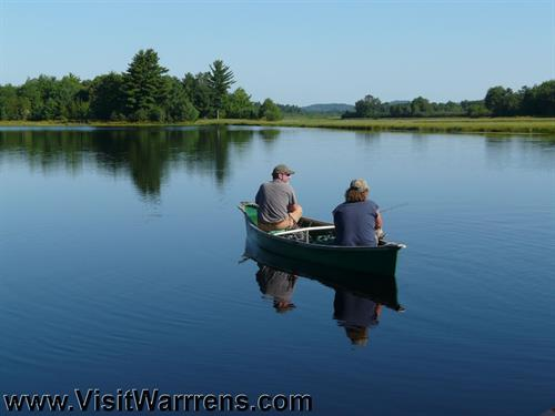 Fishing on Warrens area cranberry reservior