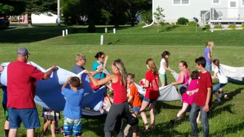 Fun games from at our Vacation Bible School