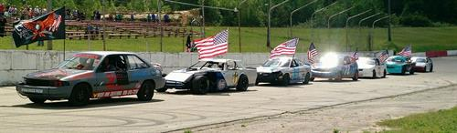 American Anthem Lap at Tomah Sparta Raceway July 1, 2016
