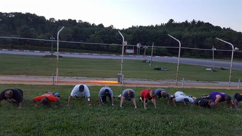 Fans, drivers and Staff of TSR participating in the 22 Push Up Challenge July 22, 2016