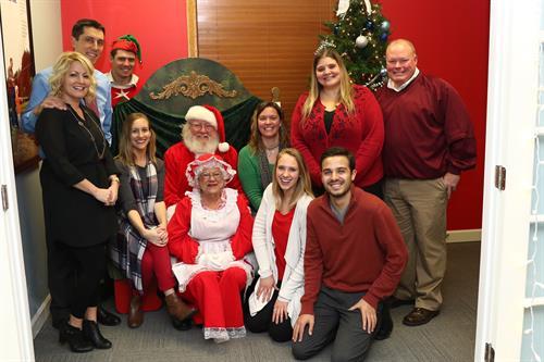 Santa & Mrs. Clause visited #TeamLassen