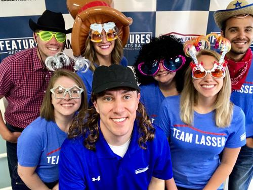 #TeamLassen having some fun in our photo booth at Features Fest!