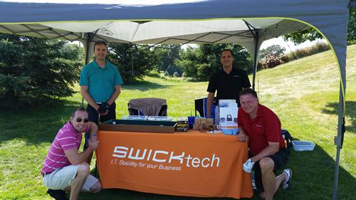 "SWICKtech sponsors holes at WCBA ""The Big One"" golf outing every year!"