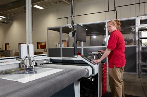 TLP's digital department is where large format, short run, and prototype labels are printed and digitally die cut.