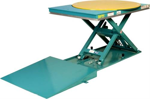 Lift-N-Spin Low Profile Rotating Lift Table