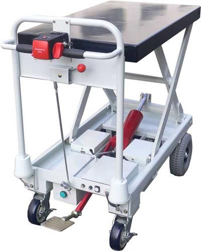 Moto-Cart Jr with Manual Pump Up Lift Table