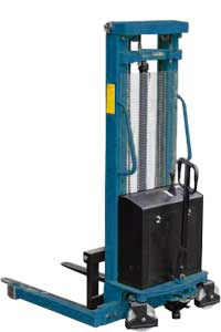 MXEM Manual Push, Electric Lift Walk Behind Stacker