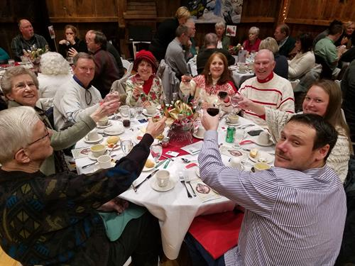A toast to the Annual Ethnic Holiday Dinner Fundraiser for Old World Wisconsin