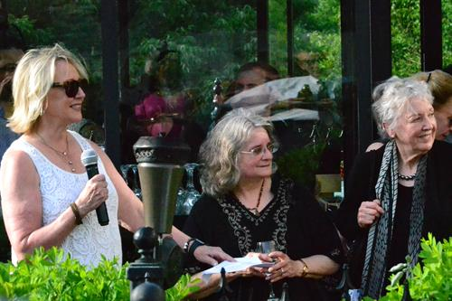 Phyllis Mensh Brostoff and Valerie Stefanich retirement party