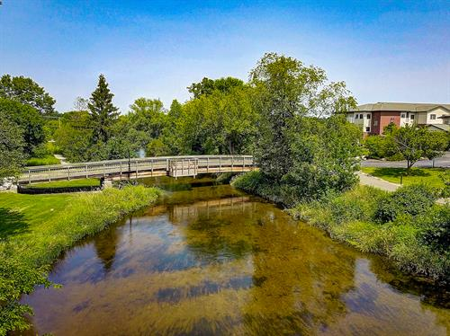 The Bark River runs through the heart of our campus