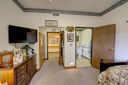 Riverside Lodge memory care resident suite