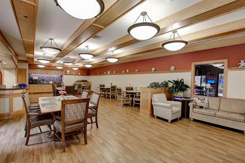 Riverside Lodge memory care dining room