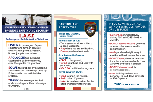 Lanyard cards for Amtrak public relations campaign