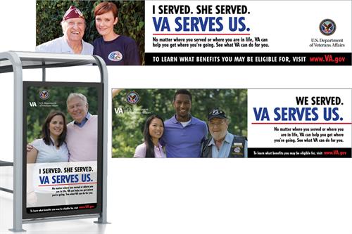 VA Serves us - outdoor media campaign (Billboard, Bus Side and Bus Shelter)