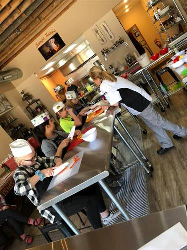 Chef Pam loves young chefs and kids b-day parties