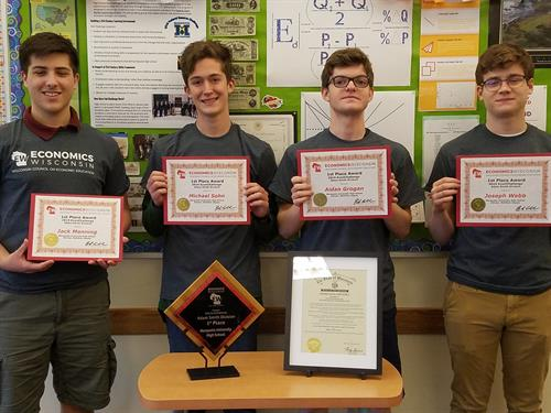 EconChallenge winners from Marquette High