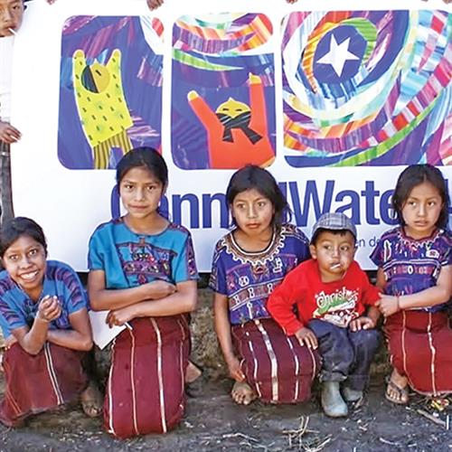 Children in the highlands of Guatemala -  beneficiaries of a recent water purification system project.