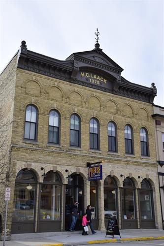 Historical landmark, H. C. Laack building 1875