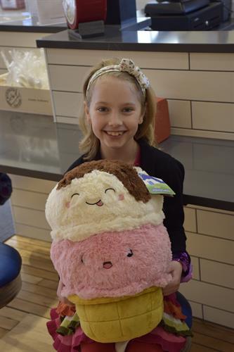 Khloe with her plush icecream cone