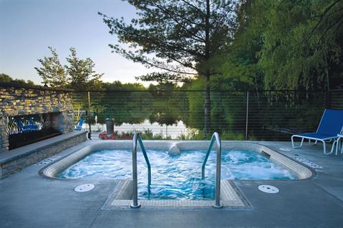 Outdoor Whirlpool Open Year-round