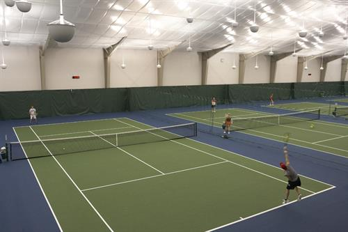 Six Indoor Tennis Courts