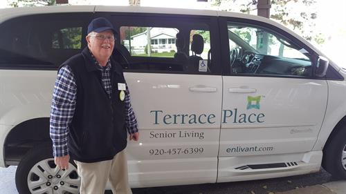 Transportation with a smile at Terrace Place Senior Living