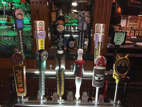 Craft beer rotating taps...