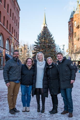 Team Christmas 2019 in Burlington, Vermont.