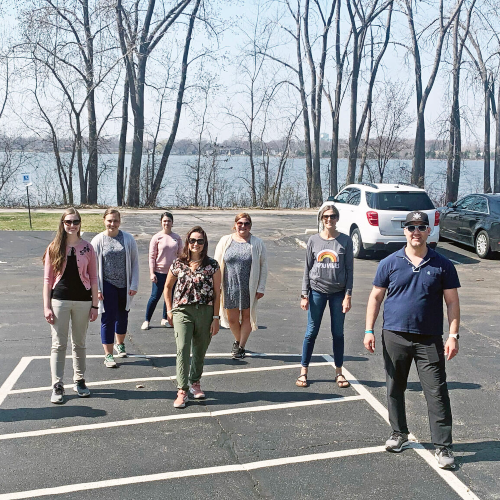 We take advantage of our office being located on the Fox River Trail as much as we can! Team walks are a common occurrence.