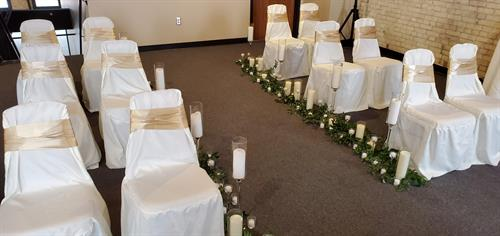 Simple and elegant Covid ceremony