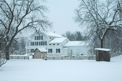 Wade House in Winter.  Picture Perfect.