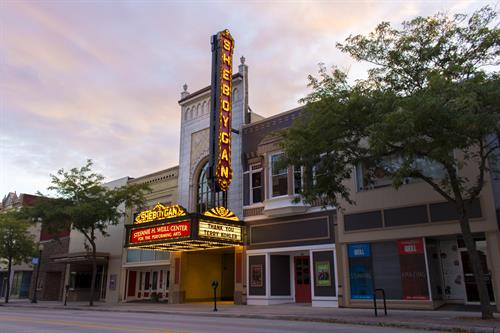 Beautiful image of the Marquee. Thanking Terry Kohler for his support of the theater.
