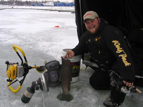 On the ice Sheboygan Harbor