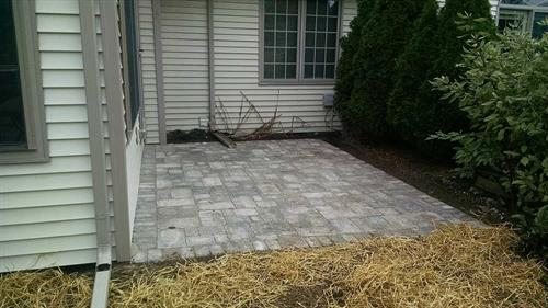 Small Paver Patio Construction - Sheboygan Falls, WI