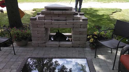 Custom Gas Outdoor Fireplace Construction - Glenbeulah, WI