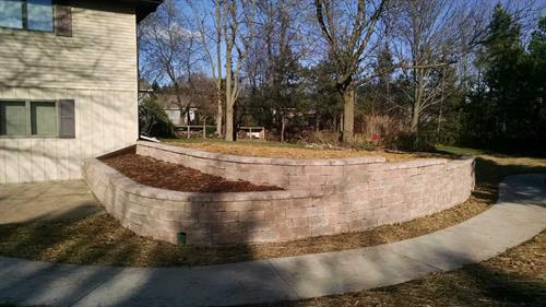 Tiered Retaining Wall Design & Construction - Sheboygan, WI