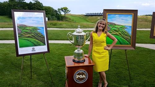 Cassy Tully - 2015 PGA Championship artwork unveiling - Sheboygan County Chamber of Commerce VIP event - Whistling Straits - www.cassytully.com