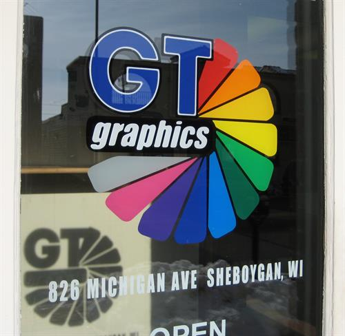 GT Graphics front window
