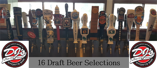 16 Draft Beer Selections!
