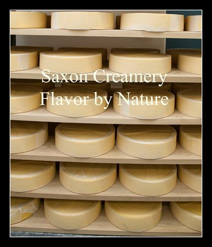 Saxon Creamery Pastures English Style Cheddar aging