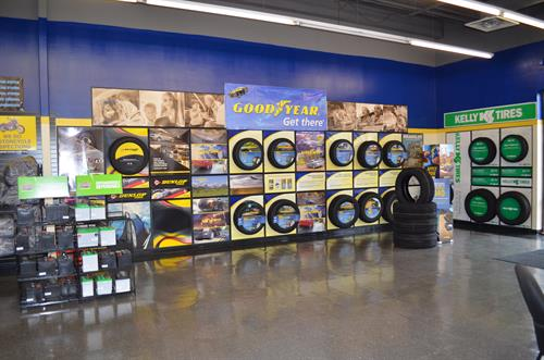 We stock Goodyear, Dunlop & Kelly tires, virtually any brand available upon request