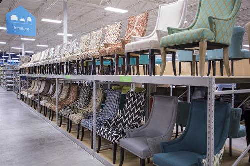 In-store furniture display