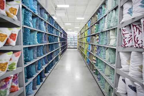 In-store pillow display