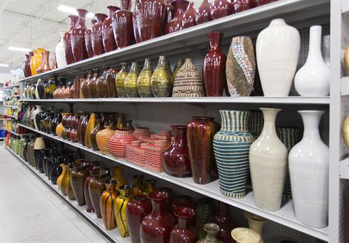 In-store vase display