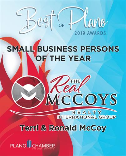PLANO CHAMBER'S BUSINESS PERSONS OF THE YEAR